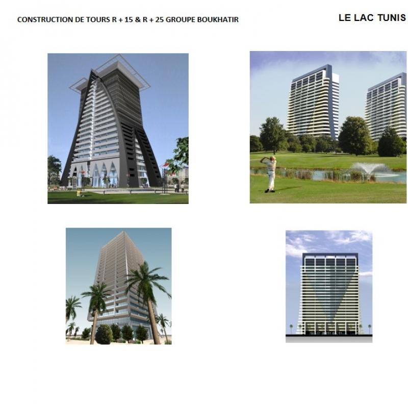 Construction de tours R 15 et R 25 Groupe BOUKHATIR