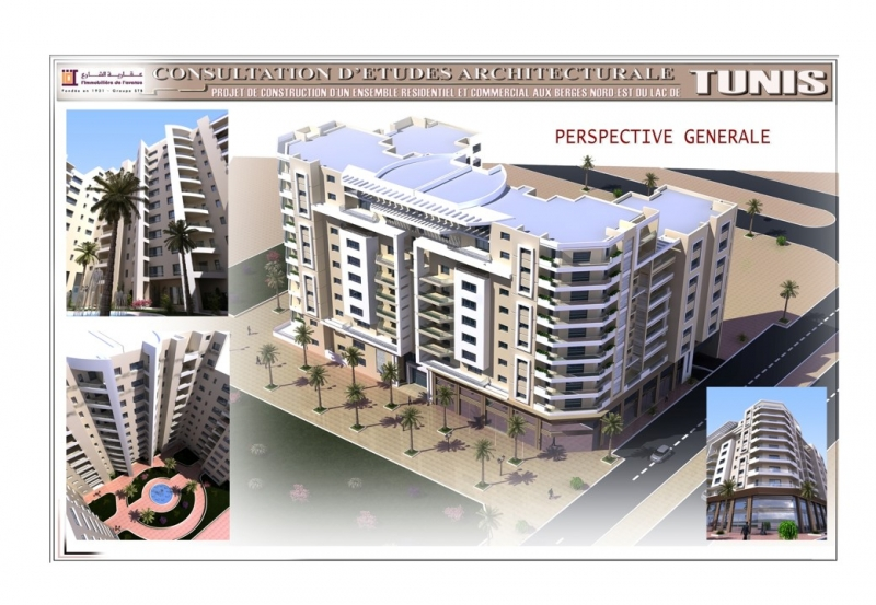Ensemble Résidentiel et Commercial aux Berges du Nord Est du Lac de Tunis – Immobilière de l'Avenue