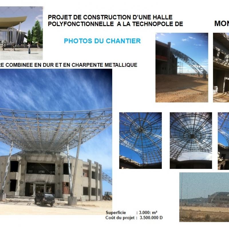 HALL POLYFONCTIONNELLE AU TECHNOPOLE DE MONASTIR (MFC POLE)